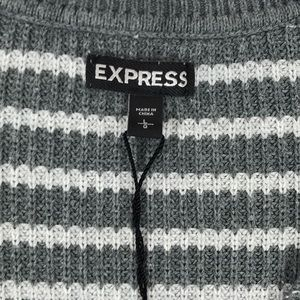 Express Sweaters - Express- V-neck, dolman sleeve, striped sweater L